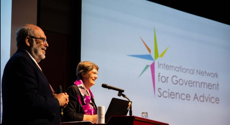 Peter Gluckman and Helen Clark at INGSA2018.