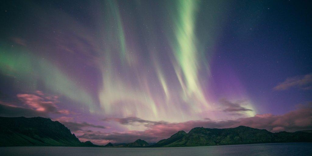 Polar lights Álftavatn, Iceland