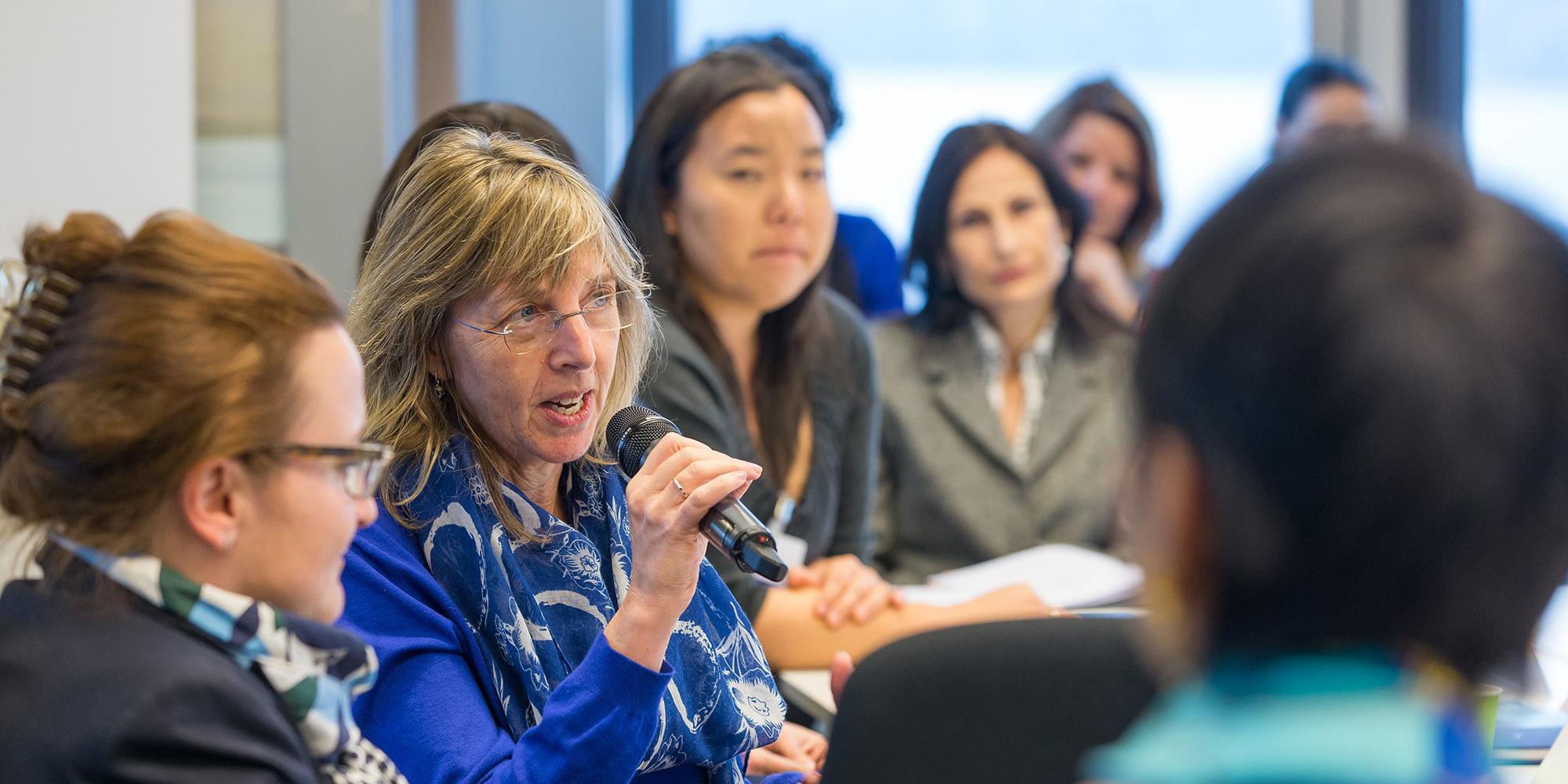 women scientists discuss