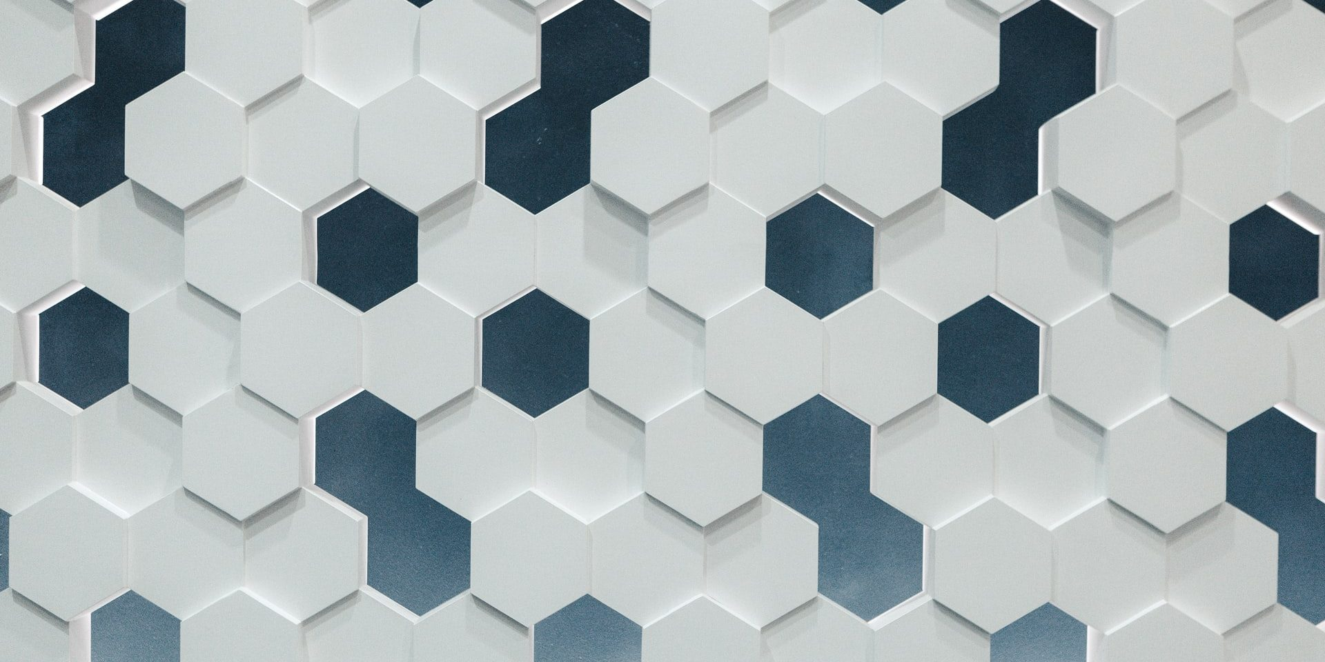 White and black Hexagon