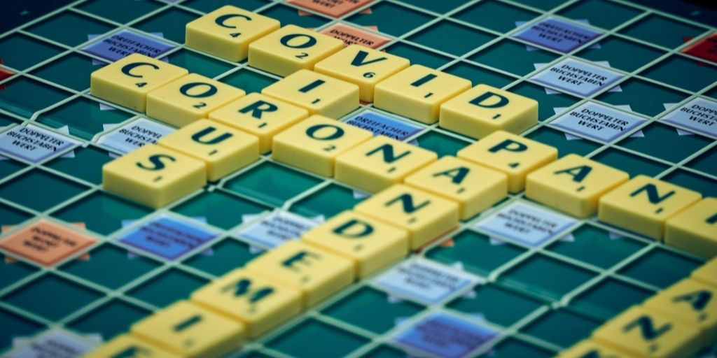 Scrabble with COVID-related words