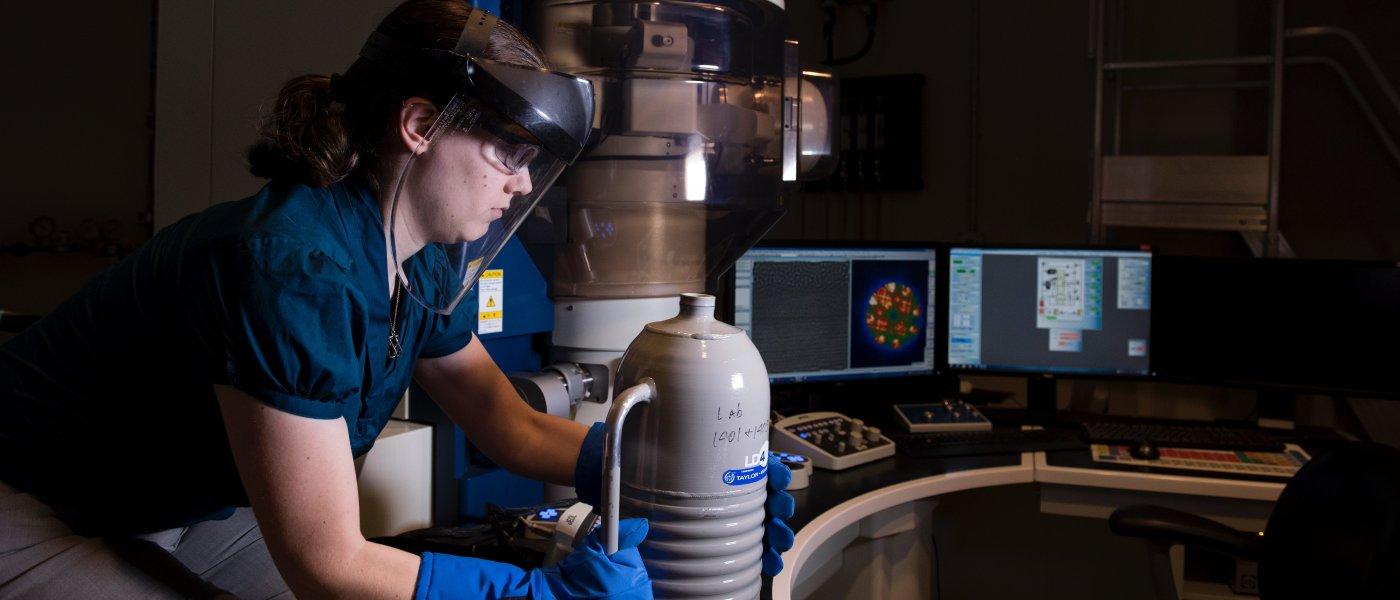 female researcher in STEM