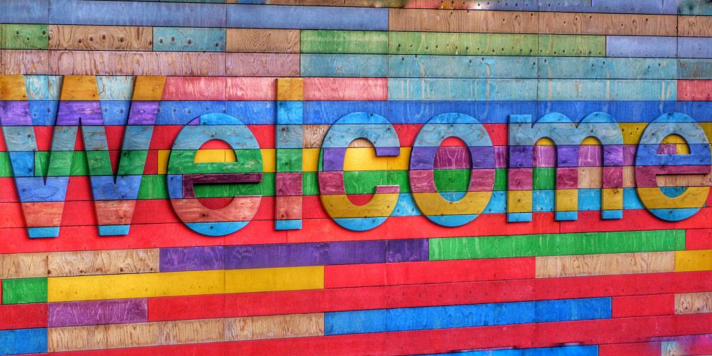 Rainbow welcome clip