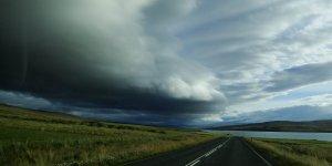 Cumulus cloud in north-western Iceland